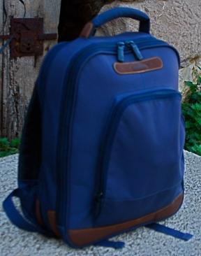 Zainetto color camoscio blu