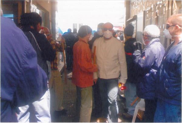 Photos du commando CGT qui expulsa violemment les Sans Papiers de la Bourse du travail de la rue Charlot le 24 juin dernier