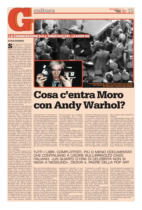 Andy Warhol e  il caso Moro